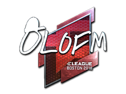 Наклейка | olofmeister (металлическая) | Бостон 2018