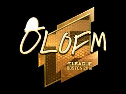 Наклейка | olofmeister (золотая) | Бостон 2018