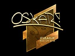 Наклейка | oskar (золотая) | Бостон 2018