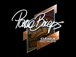 Наклейка | pashaBiceps (металлическая) | Бостон 2018