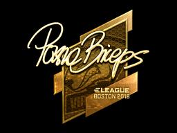 Наклейка | pashaBiceps (золотая) | Бостон 2018