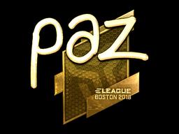 Наклейка | paz (золотая) | Бостон 2018