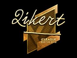 Наклейка | qikert (золотая) | Бостон 2018