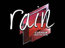 Наклейка | rain (металлическая) | Бостон 2018