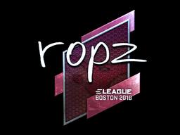 Наклейка | ropz (металлическая) | Бостон 2018