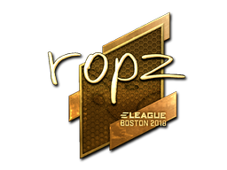 Наклейка | ropz (золотая) | Бостон 2018