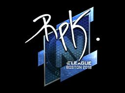 Наклейка | RpK (металлическая) | Бостон 2018