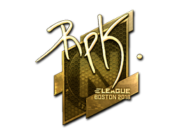 Наклейка | RpK (золотая) | Бостон 2018