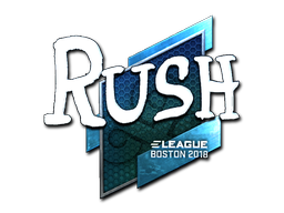 Наклейка | RUSH (металлическая) | Бостон 2018