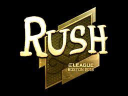 Наклейка | RUSH (золотая) | Бостон 2018
