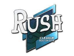 Наклейка | RUSH | Бостон 2018