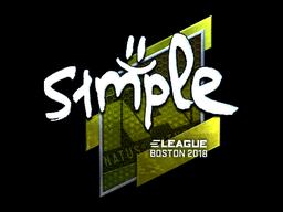 Наклейка | s1mple (металлическая) | Бостон 2018
