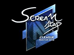 Наклейка | ScreaM (металлическая) | Бостон 2018