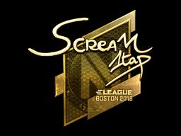 Наклейка | ScreaM (золотая) | Бостон 2018