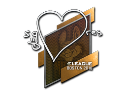 Наклейка | seang@res | Бостон 2018