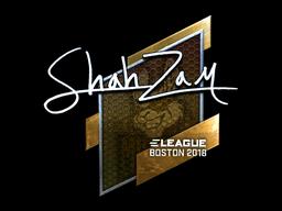 Наклейка | ShahZaM (металлическая) | Бостон 2018