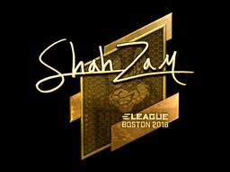 Наклейка | ShahZaM (золотая) | Бостон 2018