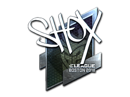 Наклейка | shox (металлическая) | Бостон 2018