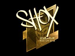 Наклейка | shox (золотая) | Бостон 2018