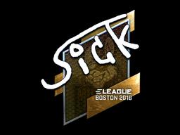 Наклейка | SicK (металлическая) | Бостон 2018