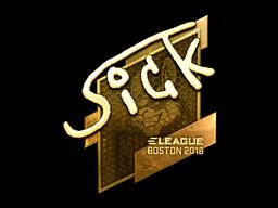Наклейка | SicK (золотая) | Бостон 2018