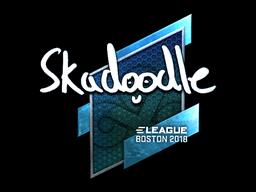Наклейка | Skadoodle (металлическая) | Бостон 2018
