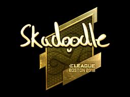Наклейка | Skadoodle (золотая) | Бостон 2018