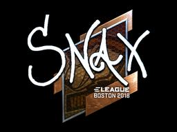 Наклейка | Snax (металлическая) | Бостон 2018