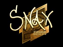 Наклейка | Snax (золотая) | Бостон 2018