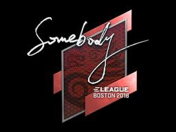 Наклейка | somebody | Бостон 2018