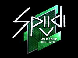 Наклейка | Spiidi (металлическая) | Бостон 2018