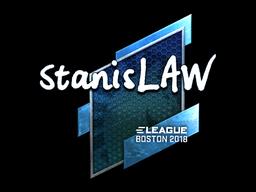 Наклейка | stanislaw (металлическая) | Бостон 2018