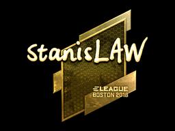 Наклейка | stanislaw (золотая) | Бостон 2018