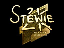 Наклейка | Stewie2K (золотая) | Бостон 2018