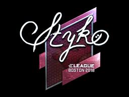 Наклейка | STYKO (металлическая) | Бостон 2018