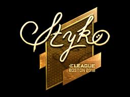 Наклейка | STYKO (золотая) | Бостон 2018