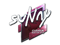 Наклейка | suNny (металлическая) | Бостон 2018