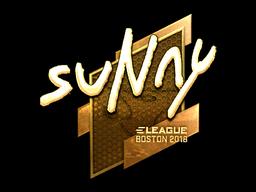 Наклейка | suNny (золотая) | Бостон 2018