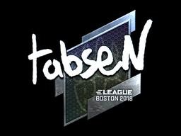 Наклейка | tabseN (металлическая) | Бостон 2018