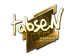 Наклейка | tabseN (золотая) | Бостон 2018