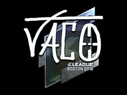 Наклейка | TACO (металлическая) | Бостон 2018