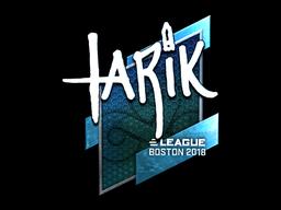 Наклейка | tarik (металлическая) | Бостон 2018