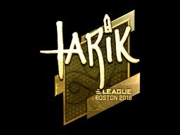 Наклейка | tarik (золотая) | Бостон 2018