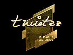 Наклейка | Twistzz (золотая) | Бостон 2018