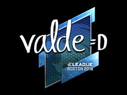 Наклейка | v4lde (металлическая) | Бостон 2018