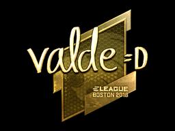 Наклейка | v4lde (золотая) | Бостон 2018