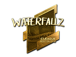 Наклейка | waterfaLLZ (золотая) | Бостон 2018
