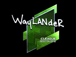 Наклейка | wayLander (металлическая) | Бостон 2018