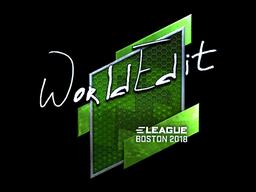 Наклейка | WorldEdit (металлическая) | Бостон 2018