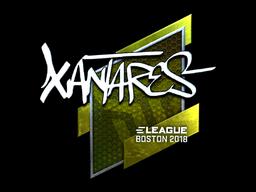 Наклейка | XANTARES (металлическая) | Бостон 2018